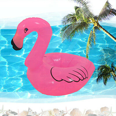 Mini Flamingo Floating Inflatable Drink Can Phone Holder Station Stand Pool Toys