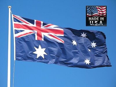 AUSTRALIA AUSTRALIAN 3x5 Foot Super-Poly Indoor/Outdoor FLAG Banner*USA MADE