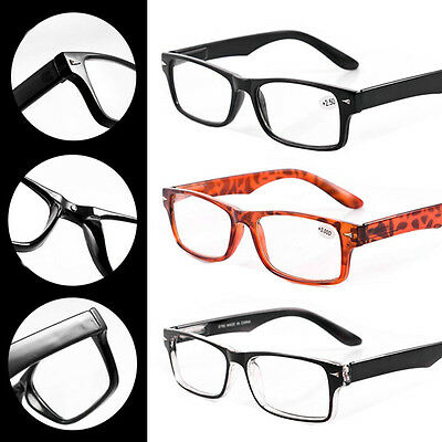 Unisex Mens Ladies Trendy Magnifying Reading Glasses Nerd Spectacle +1.0~+3.5