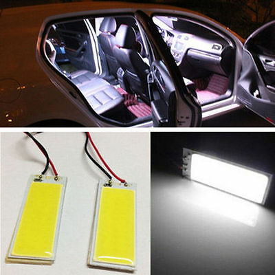 White 36 COB Xenon HID LED Dome Map Light Bulb Car Interior Panel Lamp 12V 2pcs