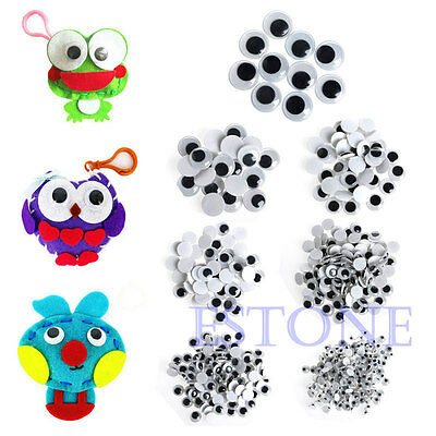 New 520PCS 6-20mm Wiggly Wobbly Googly Eyes Self-adhesive Scrapbooking Crafts
