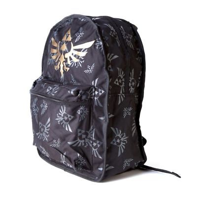 Official Nintendo Zelda Reversible Green/ Black Backpack | Legend of Zelda Bag
