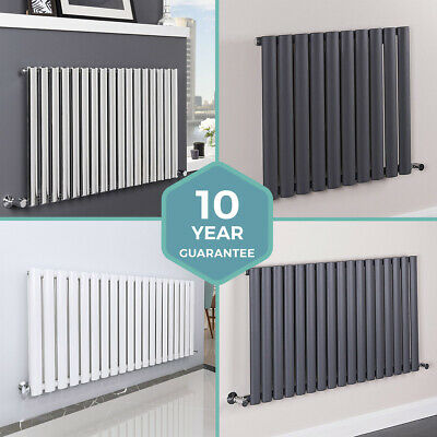 Horizontal Designer Radiators Flat Column Oval Panel Central Heating - All Sizes