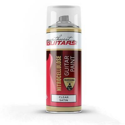 CLEAR SATIN Nitrocellulose Guitar Paint / Lacquer Aerosol - 400ml