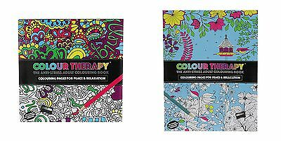 2 Models Books Anti Stress Adult Colour Therapy 32 Page Colouring Book Zen Calm