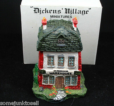 Dept 56 Dickens Miniature ~ Fezziwig's Warehouse  ~ Cold Cast Porcelain MIB