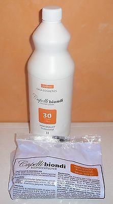 Capelli Biondi Oxidant 9% creme 1000ml + Blondierung 500g