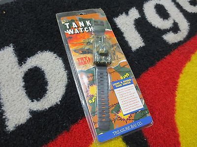 Tank Watch Treasure Bay Co. 1992 Sealed Never Opened Light & Sounds (Not Tested)
