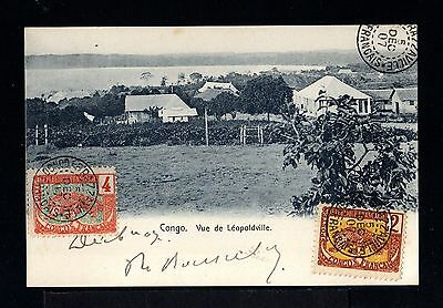 9130-CONGO FRANÇAISE-OLD POSTCARD BRAZZAVILLE .1907.FRENCH BELGIAN colonies.