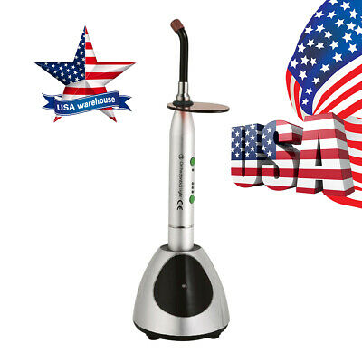 1Pc Dental Wireless LED Curing Light Lamp YS-C 2700mw/c㎡ 420nm-480nm USPS