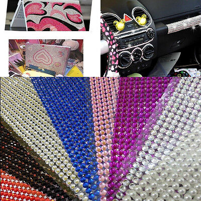 1000pcs Rhinestone Sheet Craft Self-Adhesive Stikers Stick On Gems Clear DIY Hot