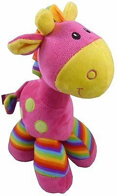 """10"""" Pink Giraffe Soft Toy - Baby Shower Gifts - Plush Toys (PL81)"""