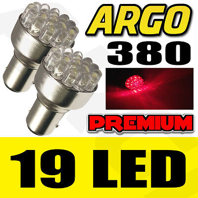 2X 380 Bay15D 1157 Red 19 Dome Led Drl Sidelight Side Light Bulbs