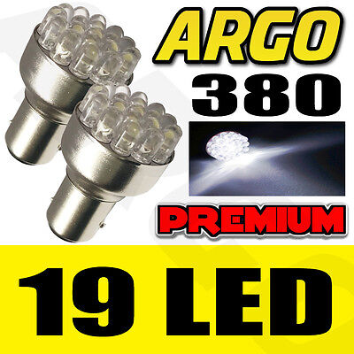 2X White + Earth 19-Led Bay15D,380,1157,p21/5W 12V Stop/tail Light Bulbs