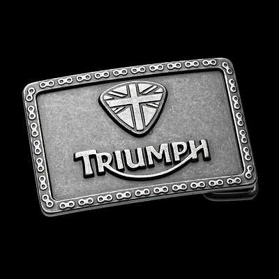 Triumph Chain Belt Buckle~Antique Silver