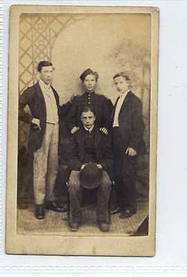 (Lb6339-442) Real Victorian CDV, Group of Young Gentleman,