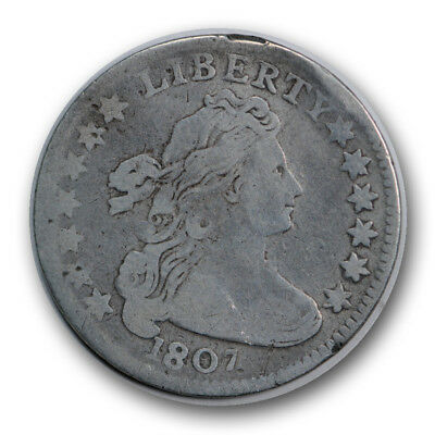 1807 10C Draped Bust Dime Fine Obverse AG Reverse US Type Coin R730