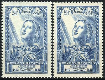 """FRANCE STAMP TIMBRE 768 """" JEANNE D'ARC 5F+4F VARIETE COULEUR"""" NEUF xx SUP M350"""