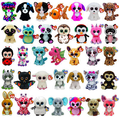 TY 6 inch Beanie Boos Boo - TY Boo Plush Teddy - TY Soft Toy - Choose your item