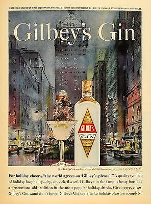 1962 Ad Georgette Lattre Park Ave New York Gilbeys Gin - ORIGINAL TM7