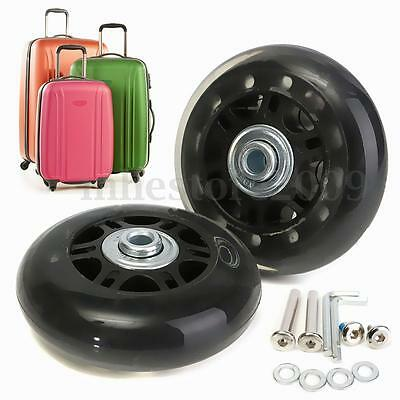 2 Set OD 70mm Luggage Suitcase Replacement Wheels Axles Repair Wrench Deluxe