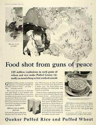 1930 Ad Quaker Oats Puffed Rice Wheat Cereal Breakfast - ORIGINAL MCC4
