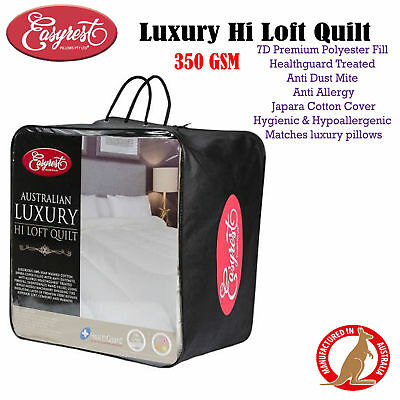 350GSM Luxury Hi Loft Quilt by Easyrest - SINGLE DOUBLE QUEEN KING Super King