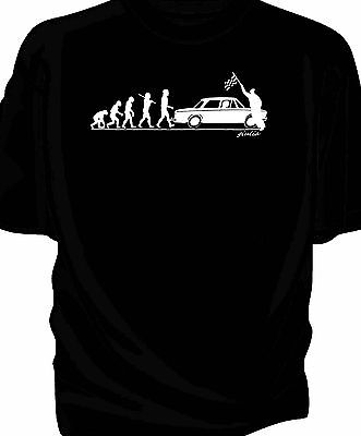 'Evolution of Man' Chequered flag t-shirt-  classic Alfa Romeo Giulia