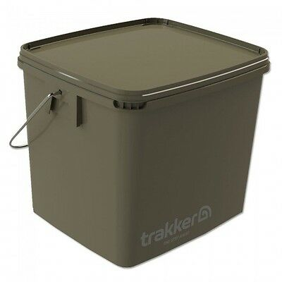 Trakker NEW Carp Fishing 17 Litre Green Square Bait Bucket - 216100