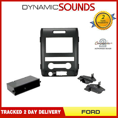 CT23FD45 Double Din Fascia Panel Adaptor Black For FORD F150 XL Model 2009-2012