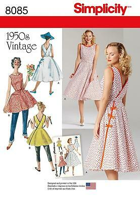 SIMPLICITY SEWING PATTERN MISSES' 1940s INSPIRED DRESSES SIZES 4 - 20 8085