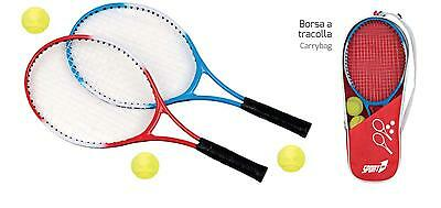 Tennis Set 2 Players 2 Racchette Cm 59 + 3 Palle Gioco  Sport One