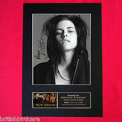 KRISTEN STEWART New Moon Mounted Signed Photo Reproduction Autograph Print A4 21