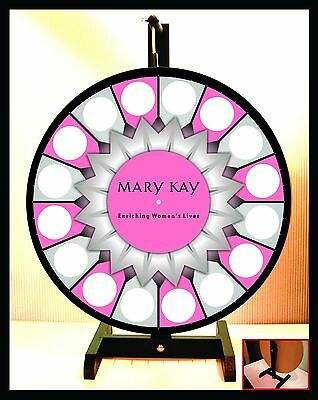 """Prize Wheel 18"""" Spinning Tabletop Portable Mary Kay 2015 Starburst Center"""