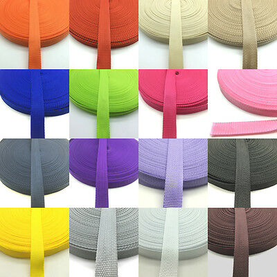 Multiple Colour Hot 1 Inch Width 25mm Nylon Webbing For DIY Backpack Strapping