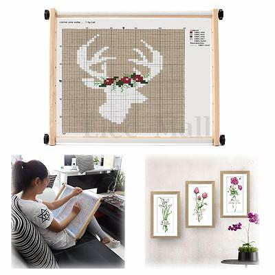 New Adjustable Beech Wooden  Rectangle Embroidery Cross-stitch Tool Lap Frame
