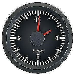 VDO Cockpit International 12V Analogue Clock 52mm Diameter Gauge Car / Kit