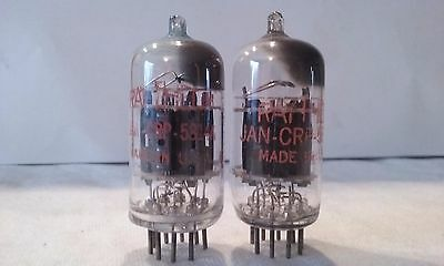 Raytheon  Electron Tubes   Jan-Crp-5814A  Jancrp5814A   Lot Of 2      Untested