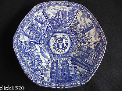 "B&W CASTLES/CATHEDRALS MILLENNIUM 11"" PLATE  WADE CERAMICS for RINGTONS TEA EX"