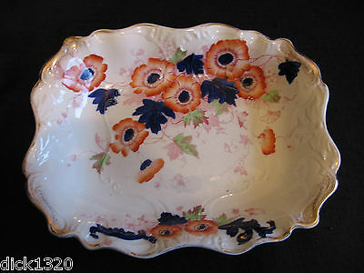 "VICTORIAN SAMPSON HANCOCK HADDON #3239 12"" MOULDED OBLONG BOWL c.1890's EX"