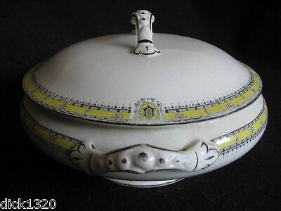 "EDWARDIAN BURLEIGH #3259  10"" HANDLED TUREEN c.1906-1912"