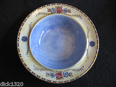 RARE ART DECO ROYAL WINTON CHELSEA HAND-PAINTED CEREAL/FRUIT BOWL c.1930's