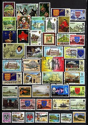 676-NICE Used STAMPS LOT OF JERSEY-BUEN LOTE de SELLOS usados de JERSEY.British.