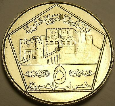 Large Gem Unc Syria 1996 5 Pounds~Imperial Eagle~Awesome~Free Shipping