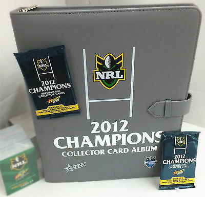 2012 Select NRL Champions Trading Cards Official Album (With Pages)
