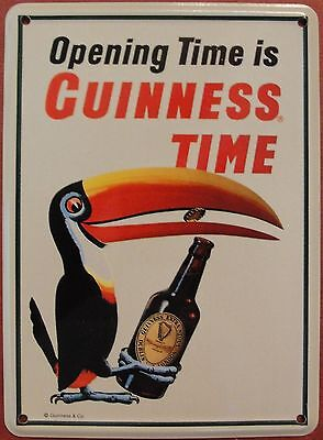 Guinness Collectible Mini Tin Sign Toucan Claw Opening Time Is Guinness Time