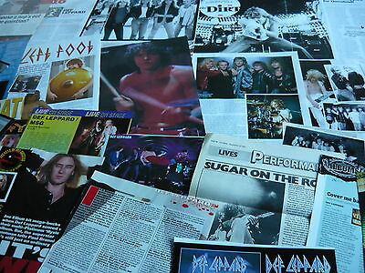 Def Leppard - Magazine Cuttings Collection (Ref X1B)