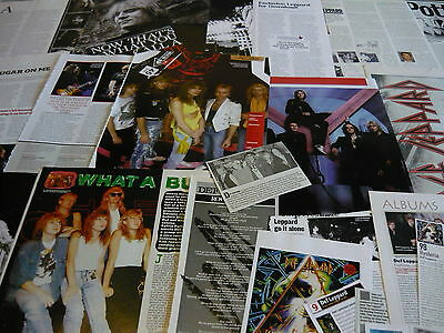 Def Leppard - Magazine Cuttings Collection (Ref X1C)