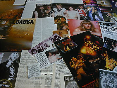 Def Leppard - Magazine Cuttings Collection (Ref X1D)