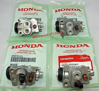 New OE HONDA 2000-2003 TRX 350 Rancher Front Brake Wheel Cylinders ALL FOUR